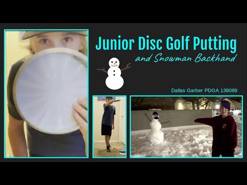 HOW I PUTT | Junior Disc Golf Putting Tips | Dallas #138089