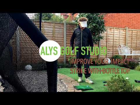 Improve your golf impact strike with a bottle cap