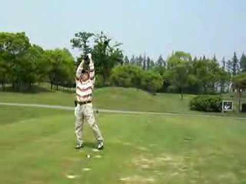 24 golf swing left handed  ゴルフスイング 080501 高尔夫 挥杆