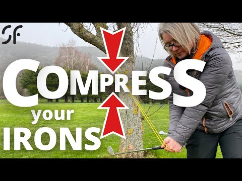 COMPRESS YOUR IRONS – compress the golf ball better & improve your impact position