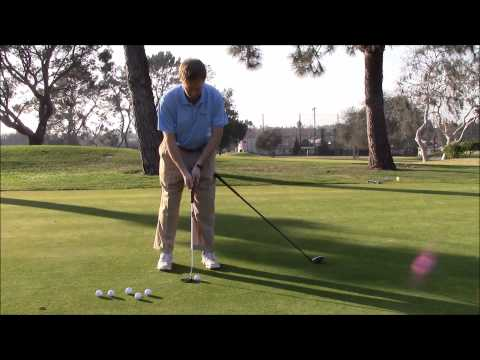 Golf Drills & Golf Tips Lag Putting Drills | Putt With a Club a Your Thigh for a Quiet Lower Body