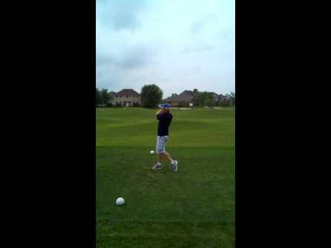 Mr. Shady Golfing left handed