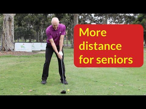 Best senior golf swing for distance