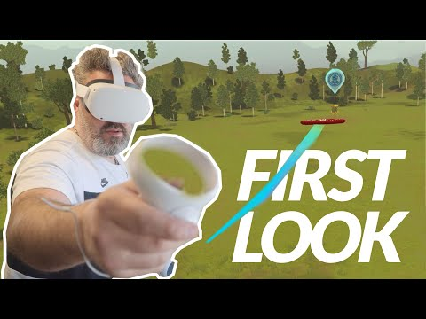 Disc golf valley in virtual reality: hard but GREAT!