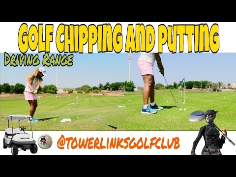 GOLF CHIPPING AND PUTTING PRACTICE AT TOWER LINKS GOLF CLUB | DRIVING RANGE | MISISPAYNE