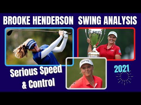 Brooke Henderson Golf Swing   [ Analysis 2021 ] LA Open Winner