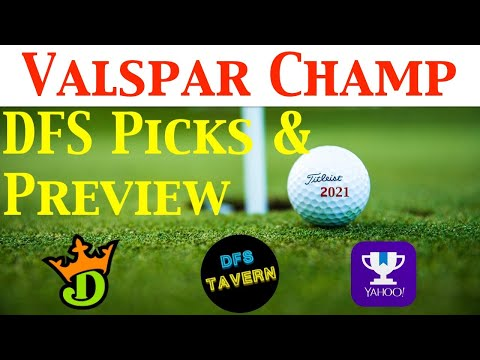 Valspar Championship PGA DFS DraftKings Fantasy Picks & Preview 2021 | Putting Green