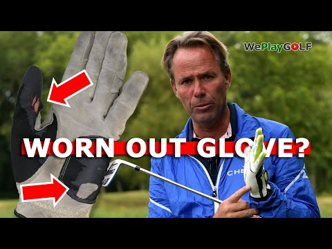 Your worn out golf glove tells you what you are doing wrong in you golf swing! Save your glove!
