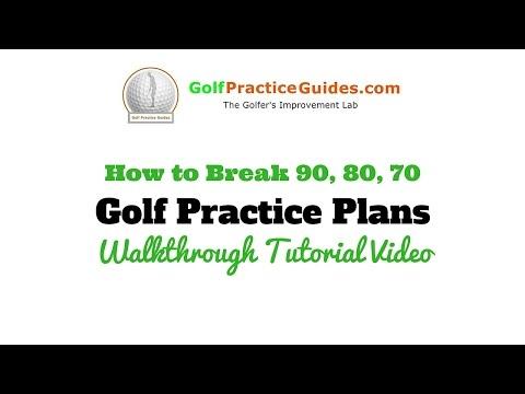 Advanced Golf Practice Plan Routine Tutorial (Beginners, High School Golfers, Break 80)