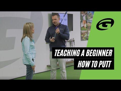 Putting tips | Teaching a beginner how to putt!