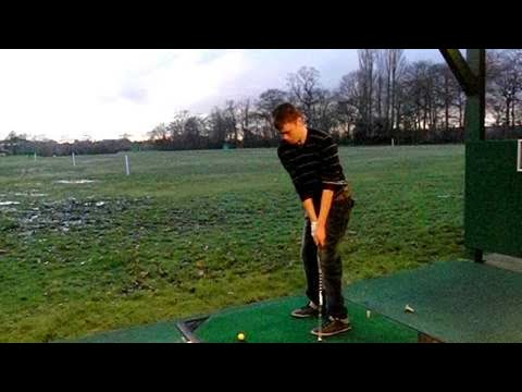 Golf For Beginners Video |george side view with banding preventing chase from right side