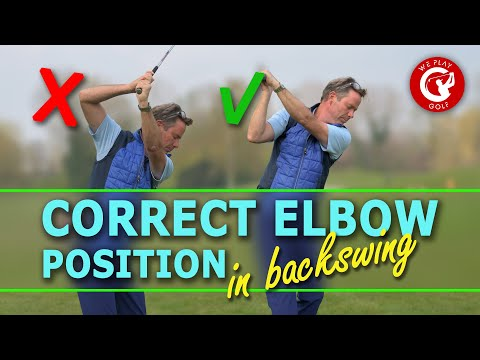 CORRECT RIGHT ELBOW POSITION IN GOLF SWING – EASY GOLF DRILL