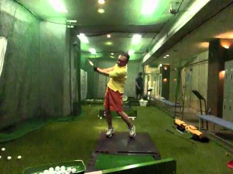 236 golf swing left handed Driver front view 20150308 by FC400S CIMG0731