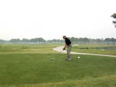 34 golf swing left handed  ゴルフスイング 080607 高尔夫 挥杆