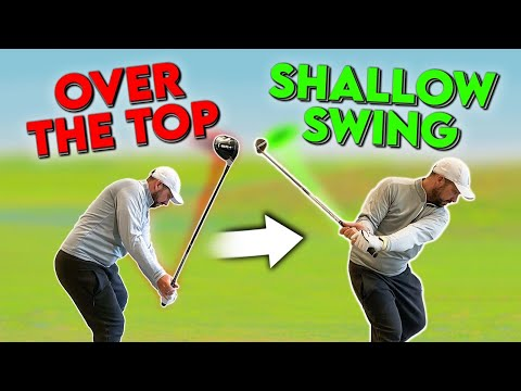 """Stop Swinging """"OVER THE TOP"""" In Golf"""