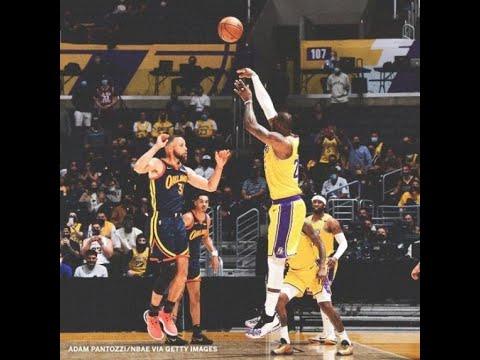 LeBron James GAME WINNER from Deep Lakers vs Warriors
