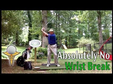 Absolutely No Wrist Break in the Golf Swing