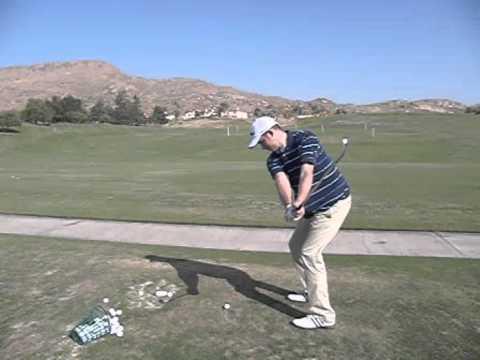 left handed golf swing