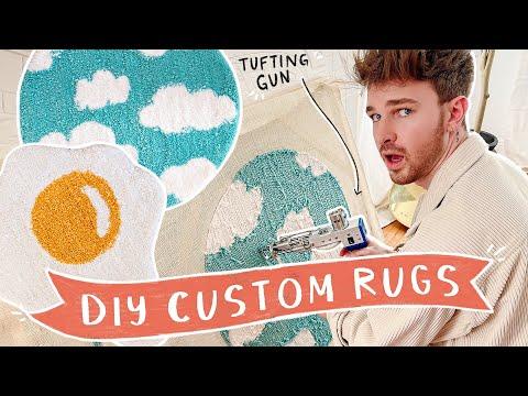 DIY Your Own Custom Rug!! ✨ Tufting Gun Tips + Tutorial for Beginners!