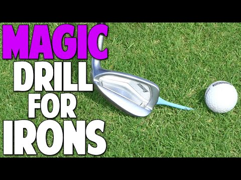 How To Hit the Ball Then The Turf With Your Irons   Magic Drill