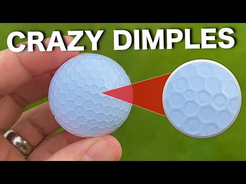 These Bridgestone golf balls have WEIRD dimples! Do they go LONGER?