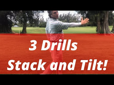 3 Stack and Tilt Golf Swing Drills! Irons or Woods! | PGA Golf Professional Jess Frank
