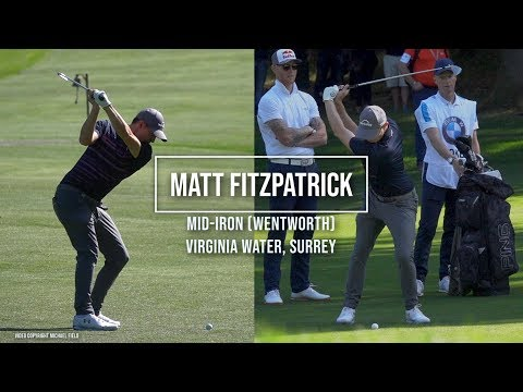 Matt Fitzpatrick Golf Swing Mid-Irons (FO & DTL), BMW PGA Wentworth, Sept 2019.