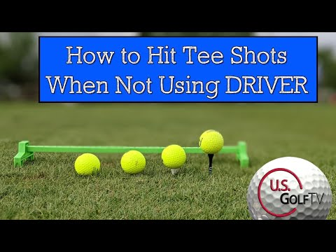 How to Tee Off When NOT Using Driver (Tee Height and Golf Ball Position)