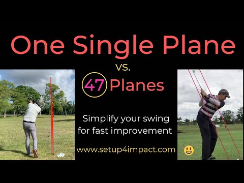 Single Plane Golf Swing? 47 Planes, or one? [Shot tracer]