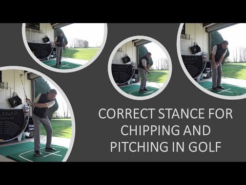 Correct Stance for Chipping and Pitching the golf ball