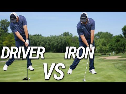 The DIFFERENCE   Driver Vs Iron   Setup & Swing Basics