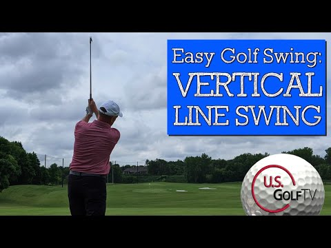 This EASY GOLF SWING for Seniors is Almost Too Effective! (VERTICAL LINE SWING)
