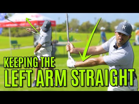 The Trick To Keeping The Left Arm Straight In The Golf Swing