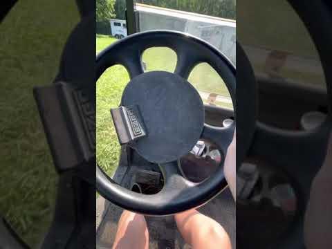 How I drive a golf cart