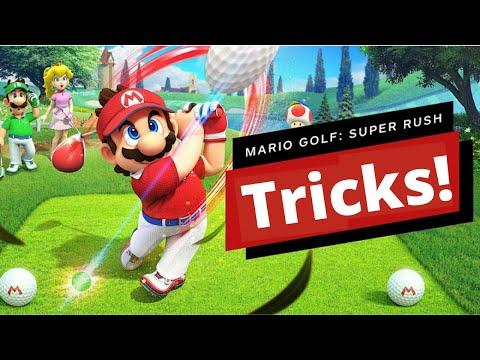 Mario Golf Super Rush Tips & Tricks   WORST PLAYER BEST SCORE 18 Holes Toad Bonny Greens