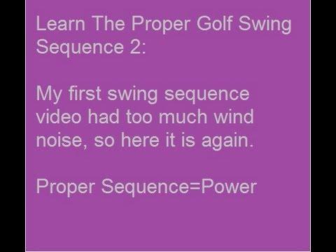 Golf Swing Basics: Learn Proper Golf Swing Sequence 2