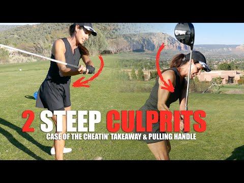 GOLF TIP: TWO STEEP CULPRITS: Cheatin' Takeaway & Pulling Handles