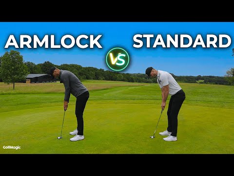THIS is why you should try ARMLOCK PUTTING! Armlock vs Standard Golf Putting Technique