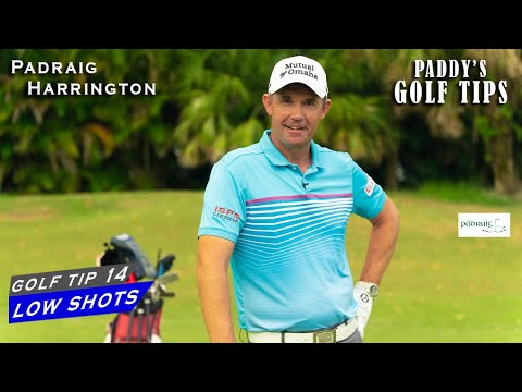 HITTING A CONTROLLED LOW SHOT   Paddy's Golf Tip #14   Padraig Harrington   Golf