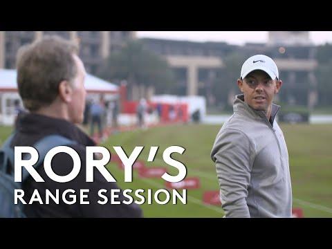 Rory McIlroy range session with Top Tracer   2021 Abu Dhabi HSBC Championship