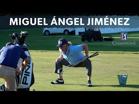 The most unique stretching routine in golf (Miguel Angel Jimenez)