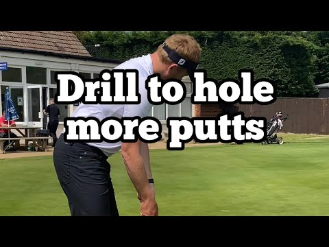 Drill for short range putting   Golf