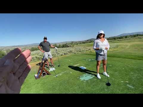 Part 2 beginner golfer lesson with Saber Golf Swing Trainer