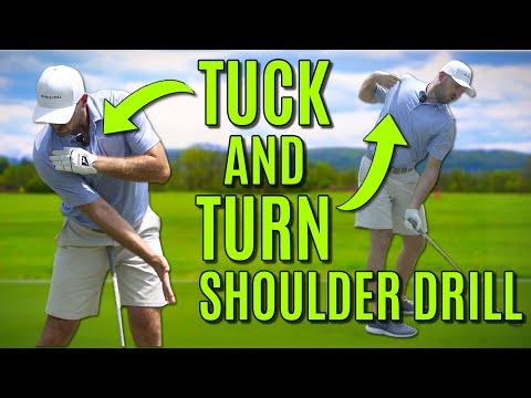 Stop Pulling Iron Shots!   Tuck & Turn Shoulder Drill