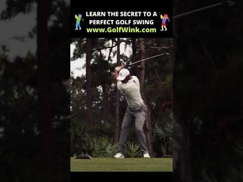 🏌️ The Secret to a Perfect Golf Swing 🏌️ Golf Swing Slow Motion #Shorts