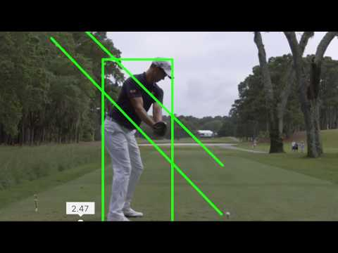 Analyze golf swings with plane lines using free apps, video, iPhone or Android camera devices
