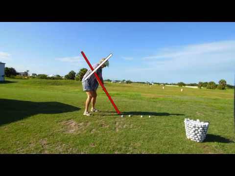 Maintain the angles in the single plane golf swing