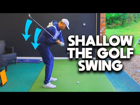 Easiest way to SHALLOW your golf swing