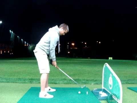 Golf swing (7 iron back) Luzhniki driving range