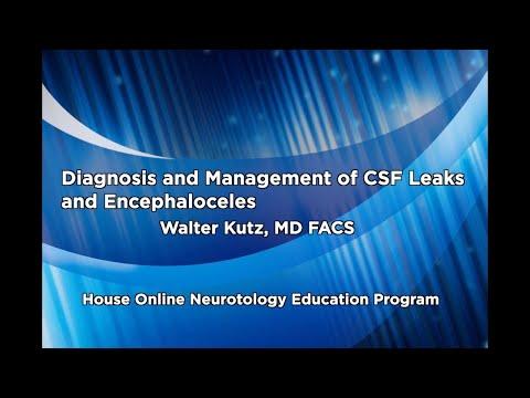 Diagnosis & Management of CSF Leaks and Encephaloceles   House Online Neurotology Education Program